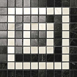 Marvel PRO Noir/Cremo Angolo Mosaico shiny | Mosaicos de cerámica | Atlas Concorde
