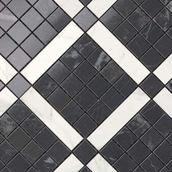 Marvel PRO Noir St. Laurent Mix Diagonal Mosaic shiny | Mosaike | Atlas Concorde
