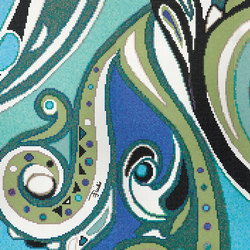 Emilio Pucci Pizzo Blue | Glas-Mosaike | Bisazza