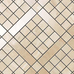 Marvel PRO Travertino Alabastrino Diagonal Mosaic shiny | Ceramic mosaics | Atlas Concorde