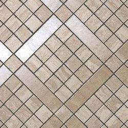 Marvel PRO Travertino Silver Diagonal Mosaic shiny | Ceramic mosaics | Atlas Concorde
