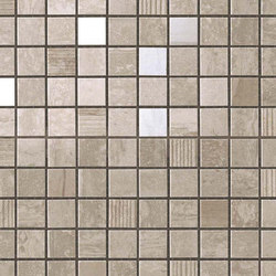 Marvel Pro Travertino Silver Mosaic | Ceramic mosaics | Atlas Concorde