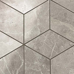 Marvel PRO Grey Fleury Mosaico Esagono shiny | Mosaici ceramica | Atlas Concorde
