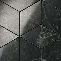 Marvel PRO Noir St. Laurent Mosaico Esagono shiny | Mosaicos de cerámica | Atlas Concorde