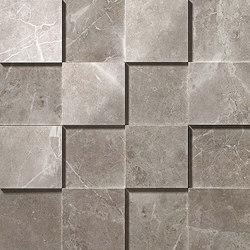 Marvel PRO Grey Fleury Mosaico 3D shiny | Mosaicos de cerámica | Atlas Concorde