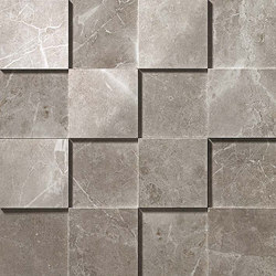 Marvel PRO Grey Fleury Mosaico 3D shiny | Mosaïques | Atlas Concorde