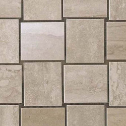 Marvel Pro Travertino Silver Net Mosaic shiny | Ceramic mosaics | Atlas Concorde