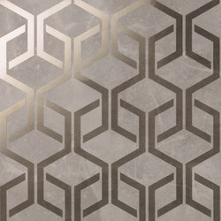 Marvel PRO Grey Fleury Hexagon shiny | Azulejos de pared | Atlas Concorde