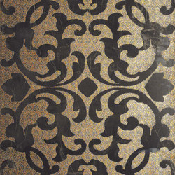 Marvel Pro Noir St. Laurent Brocade shiny | Ceramic tiles | Atlas Concorde