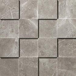 Marvel PRO Grey Fleury Mosaico 3D | Ceramic mosaics | Atlas Concorde