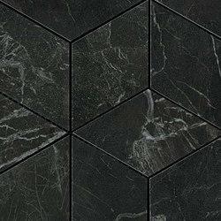 Marvel PRO Noir St. Laurent Mosaico Esagono | Ceramic mosaics | Atlas Concorde