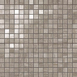 Marvel PRO Travertino Silver Mosaico shiny | Ceramic mosaics | Atlas Concorde