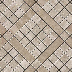 Marvel PRO Travertino Silver Diagonal Mosaic | Ceramic mosaics | Atlas Concorde
