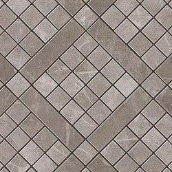Marvel PRO Grey Fleury Diagonal Mosaic | Mosaicos de cerámica | Atlas Concorde