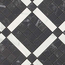 Marvel PRO Noir St. Laurent Mix Diagonal Mosaic | Ceramic mosaics | Atlas Concorde