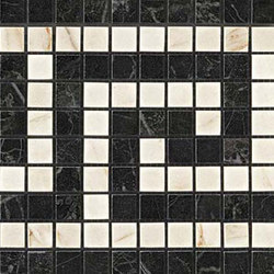 Marvel PRO Noir/Cremo Greca Mosaico | Ceramic mosaics | Atlas Concorde