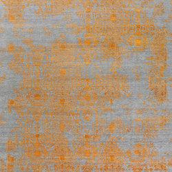Inspirations T3 grey & orange | Rugs / Designer rugs | THIBAULT VAN RENNE