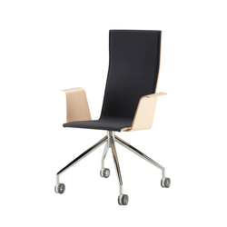 Duo | conference chair with armrests, low | Arbeitsdrehstühle | Isku