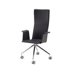 Duo | conference chair with armrests, high | Sedie girevoli da lavoro | Isku