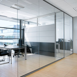 RG | Solid glass wall | Office Pods | Bene