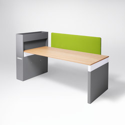 Workspace Work table | Bureaux individuels | Müller Möbelfabrikation