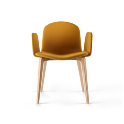Bob XL Wood Chair with Armrests | Sièges visiteurs / d'appoint | ONDARRETA