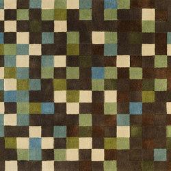 Squares Vert | Formatteppiche / Designerteppiche | Toulemonde Bochart