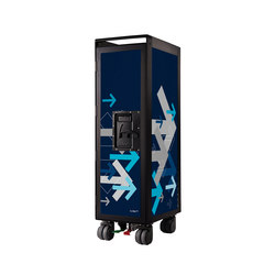bordbar black edition arrows blue | Teewagen / Barwagen | bordbar