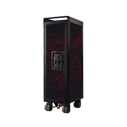 bordbar black edition network black red lines | Tea-trolleys / Bar-trolleys | bordbar
