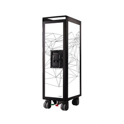 bordbar black edition network white black lines | Tea-trolleys / Bar-trolleys | bordbar
