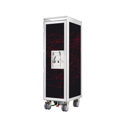 bordbar new network black red lines front | Tea-trolleys / Bar-trolleys | bordbar
