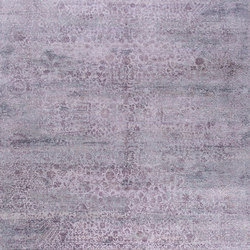 Kork Reintegrated grey & purple | Tappeti / Tappeti d'autore | THIBAULT VAN RENNE