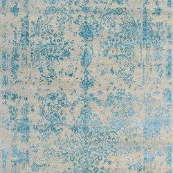 Kashmir Blazed aqua blue 4739 | Formatteppiche / Designerteppiche | THIBAULT VAN RENNE