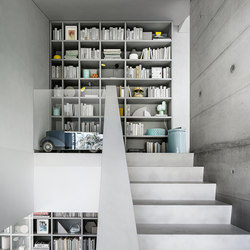 High end library shelving storage shelving on architonic - Home library shelving system ...