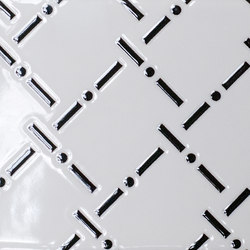 Quindicidecimi I-O Black and White Allover | IO1510BWA | Floor tiles | Ornamenta