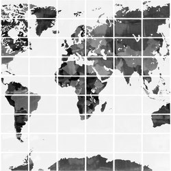 Italia Independent | Black and White Camoworld | Carrelage | Ornamenta