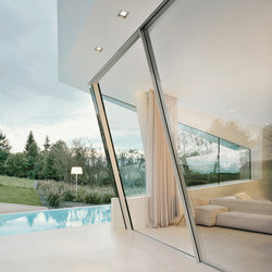 Slope sliding window | Glass room doors | Sky-Frame
