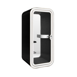 Framery O | black with white door and frame | Cabine telefono | Framery