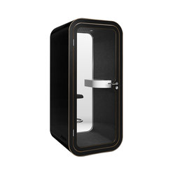 Framery O | black with black door and frame | Telefonkabinen | Framery