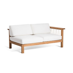 Maro 2 Seater Arm Right | Garden sofas | Oasiq