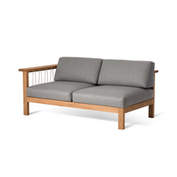 Maro 2 Seater Arm Left | Gartensofas | Oasiq