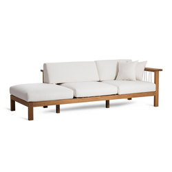 Maro Chaise Longue Arm Right | Divani da giardino | Oasiq