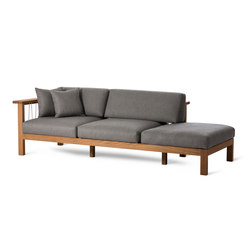 Maro Chaise Longue Arm Left | Gartensofas | Oasiq