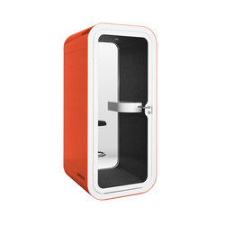 Framery O | orange with white door and frame | Cabine telefono | Framery