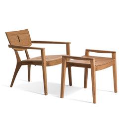 Diuna Lounge Armchair | Diuna Foot Stool | Gartensessel | Oasiq