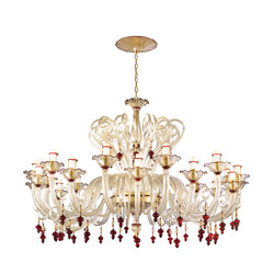 Dama Rossa Chandelier | Ceiling suspended chandeliers | Abate Zanetti