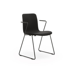 Sola with sled base & armrests | Besucherstühle | Martela