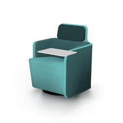 PodSeat with low backrest & table | Lounge-work seating | Martela Oyj