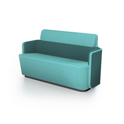 PodSofa with low backrest | Divani lounge | Martela Oyj