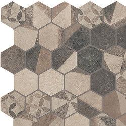 Terra Deco Beige Esagono Mosaico | Ceramic mosaics | Fap Ceramiche
